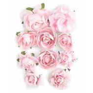 """Набор цветов """"Розы"""", цвет - """"Розовый"""""""