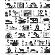Штамп азбука на английском