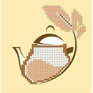 Набор чайник бежевый