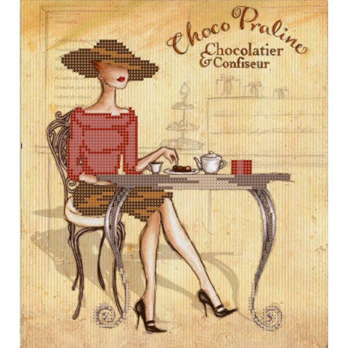 Набор дама и шоколад для скрапбукинга