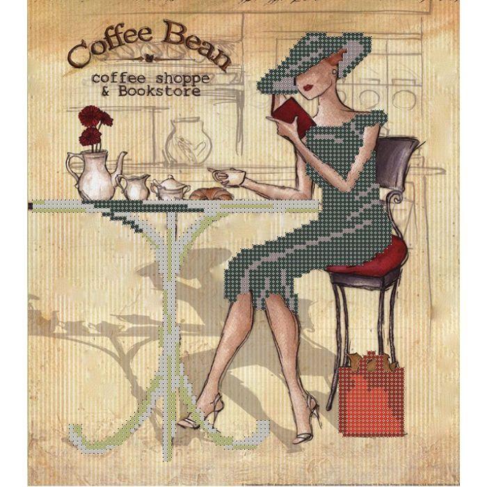Схема дама и кофе для скрапбукинга