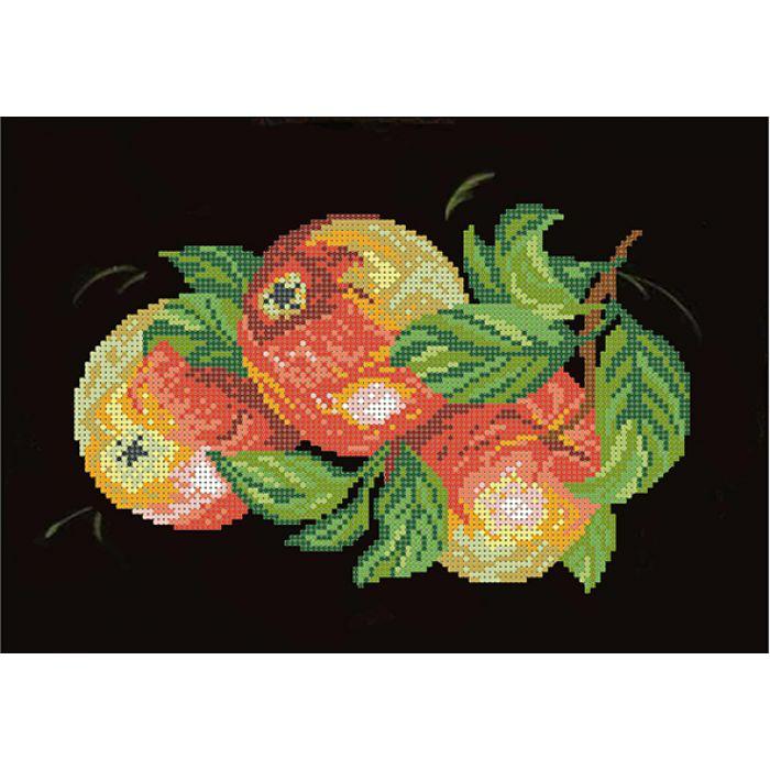 Набор яблоки на черном для скрапбукинга