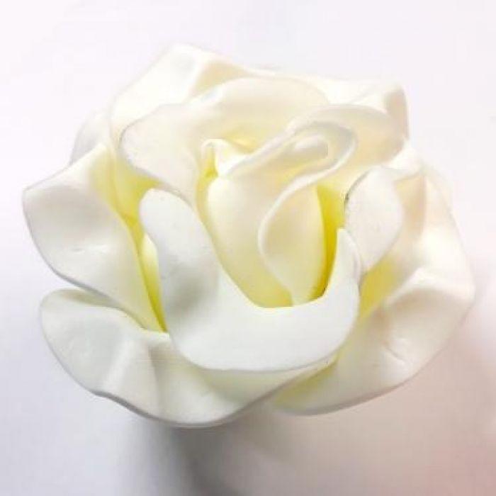 Роза из фоамирана кремовая 9см для скрапбукинга