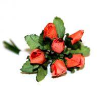 Алые бутоны роз