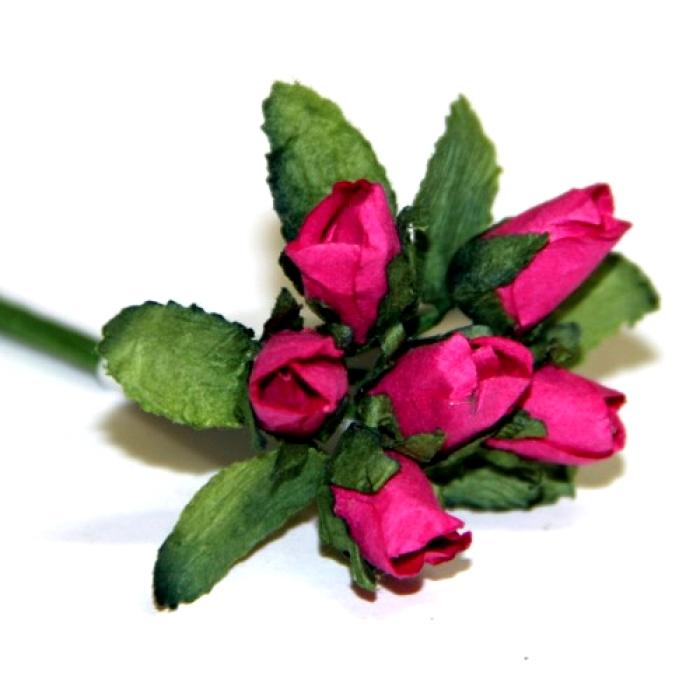 Малиновые бутоны роз для скрапбукинга