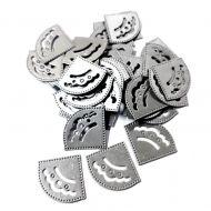 Уголки для фотографий серебряные