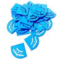 Уголки для фотографий ярко-голубые