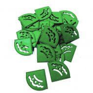 Уголки для фотографий зеленые