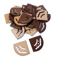 Уголки для фотографий бежево-коричневые