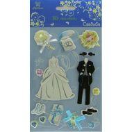 3-D наклейки свадьба