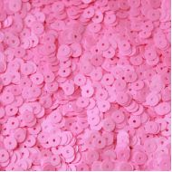 Пайетки глянец розовые 6мм