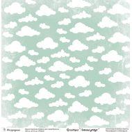 Бумага голубые облака, коллекция Летний дождь