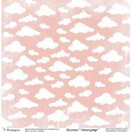 Бумага розовые облака, коллекция Летний дождь
