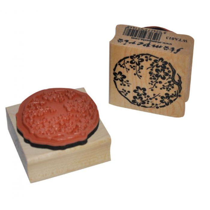 Штамп резиновый Цветы для скрапбукинга