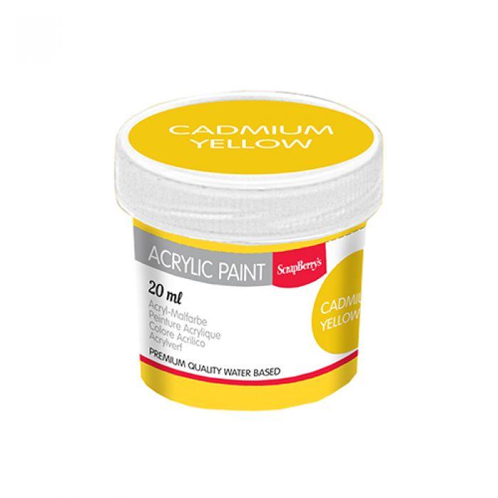Акриловая краска кадмий желтый 20 мл для скрапбукинга