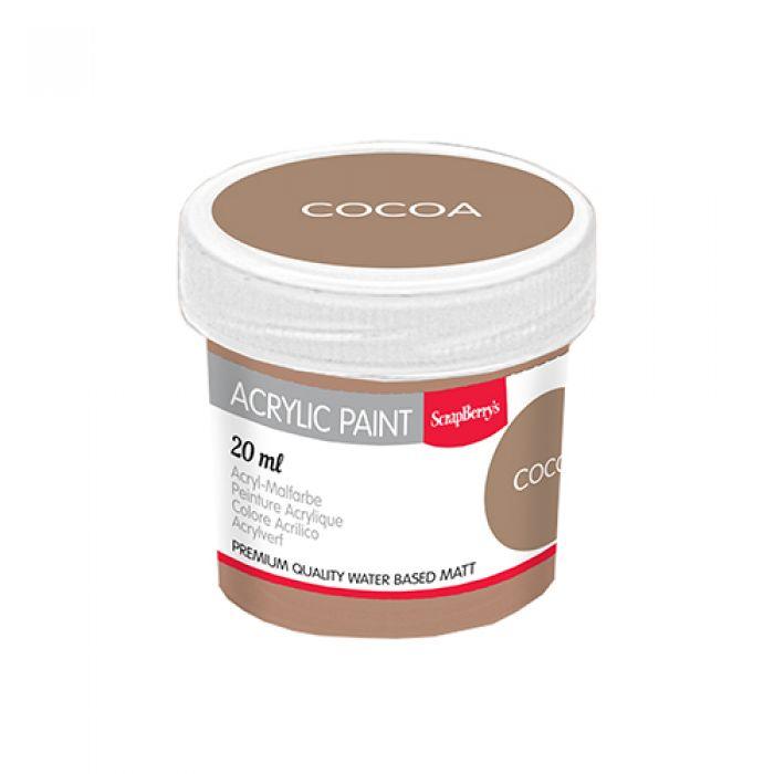 Акриловая краска какао 20 мл для скрапбукинга