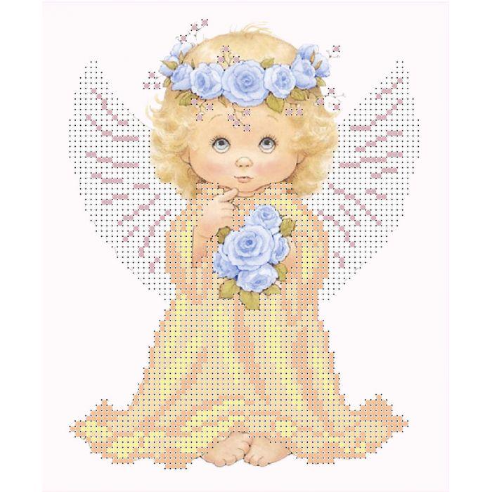 Набор ангел с розами для скрапбукинга