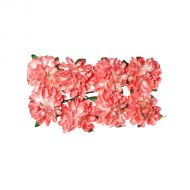 Астры из бумаги розовые
