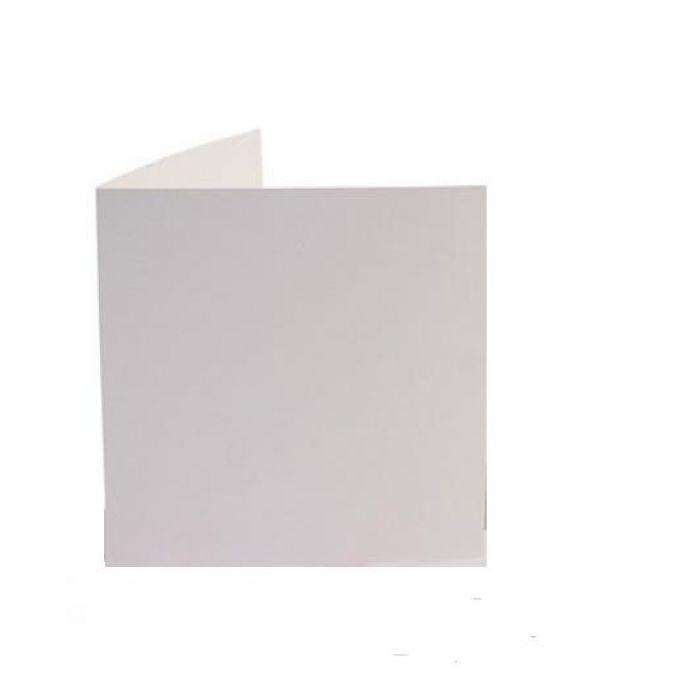 Белая заготовка открытки 13,5 х 13,5 см для скрапбукинга