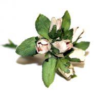 Бежевый букет бутонов роз