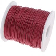 Бордовый вощёный шнур
