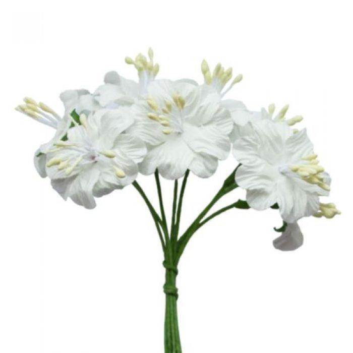 Букетик цветов белый для скрапбукинга