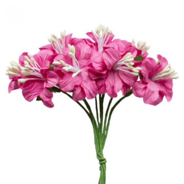 Букетик цветов фуксия для скрапбукинга