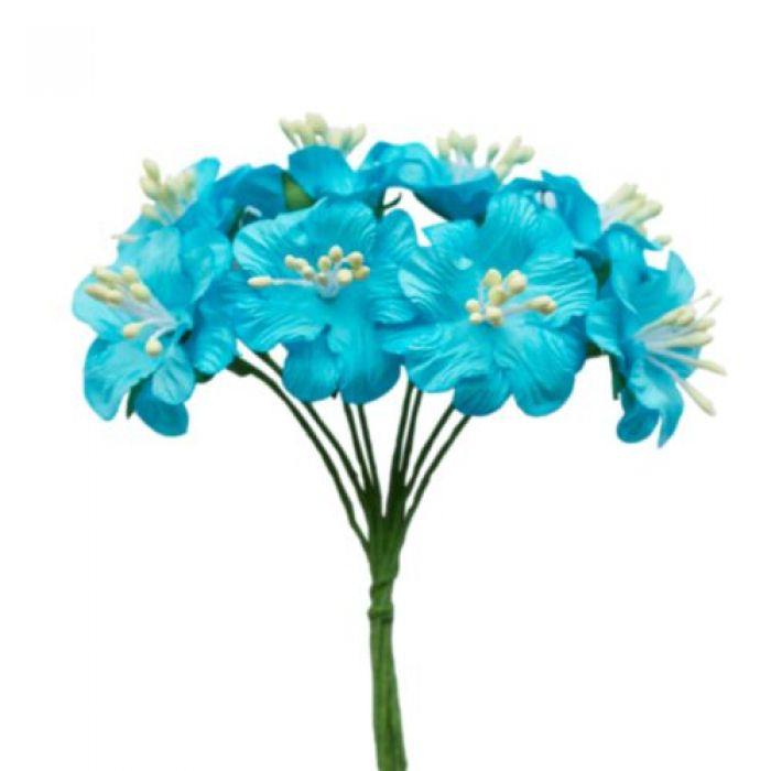 Букетик цветов голубой для скрапбукинга