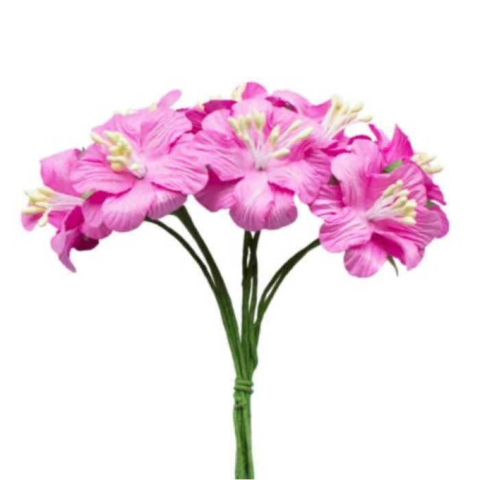 Букетик цветов розовый для скрапбукинга