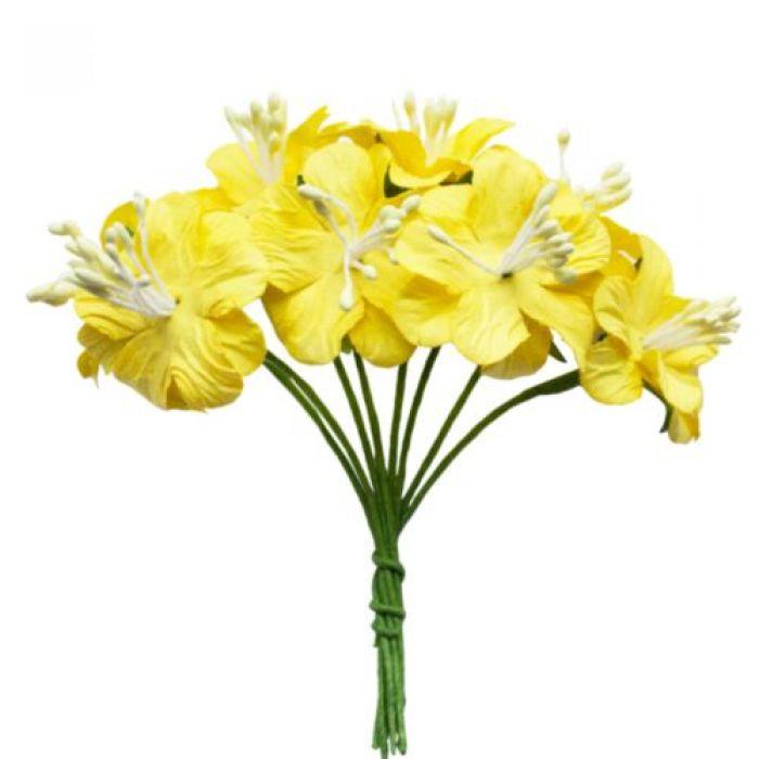 Букетик цветов жёлтый для скрапбукинга