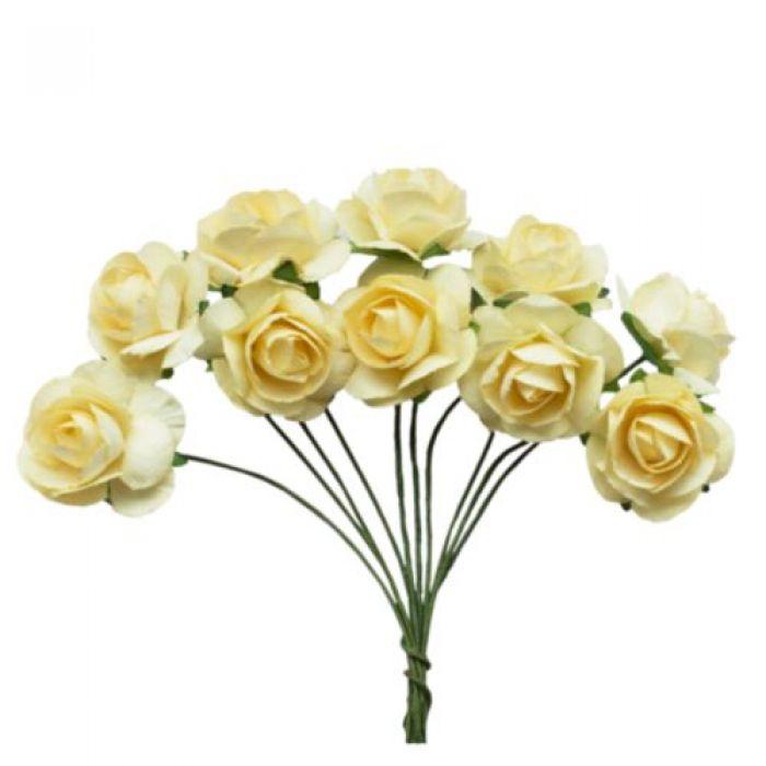 Букетик кремовых роз для скрапбукинга