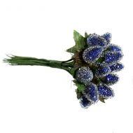 Букетик малина синяя 20 мм