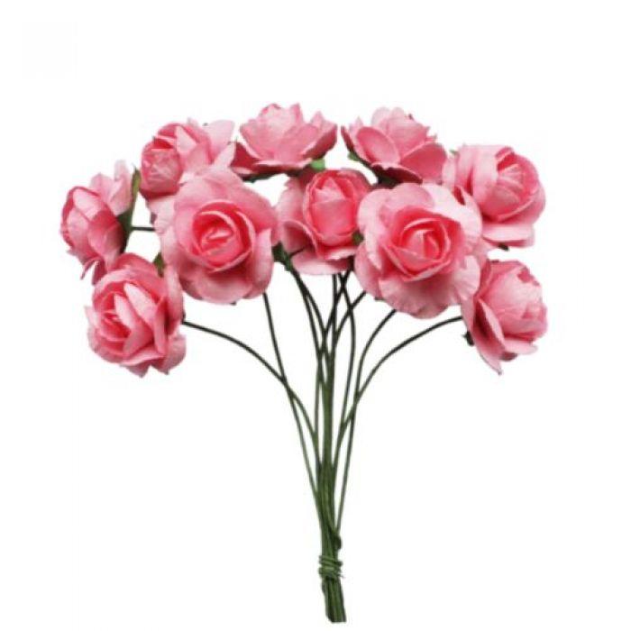 Букетик роз розовый для скрапбукинга