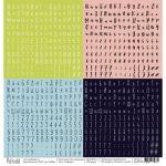 Бумага алфавит, коллекция на чемоданах