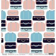 Бумага чемоданы, коллекция на чемоданах