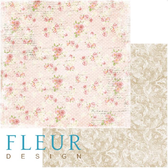 Бумага цветочная мозаика, коллекция забытое лето для скрапбукинга