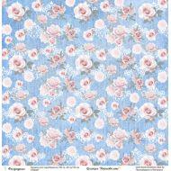 Бумага цветы роз, коллекция Джинсовое лето