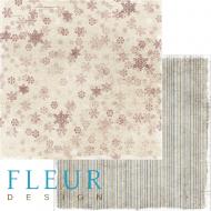 Бумага декабрьская вьюга, коллекция зимние узоры
