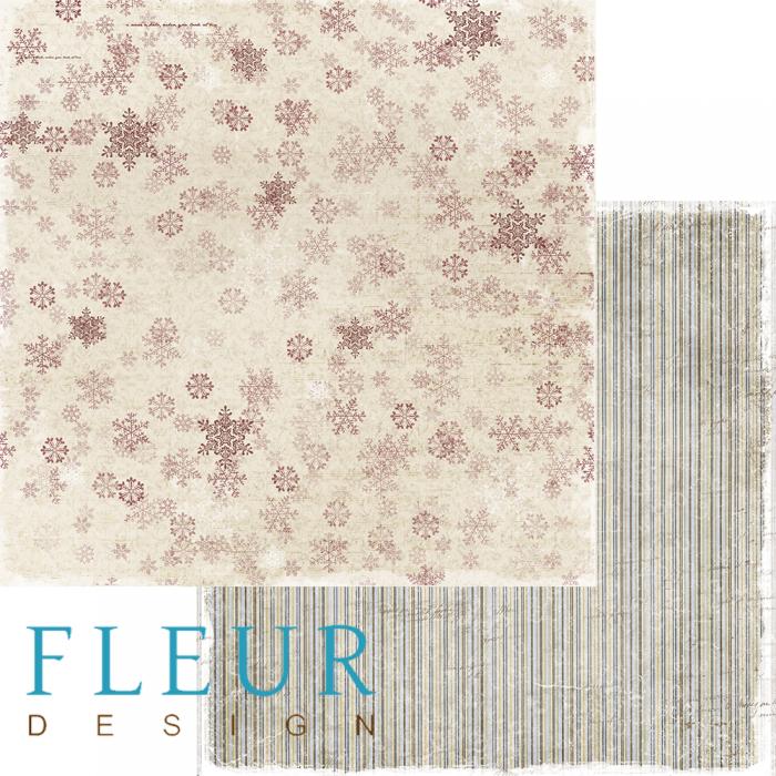 Бумага декабрьская вьюга, коллекция зимние узоры для скрапбукинга