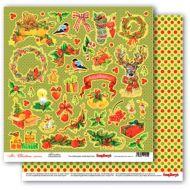 Бумага декор, коллекция рождественская омела