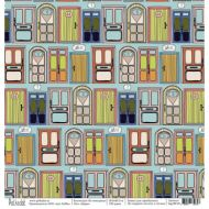 Бумага двери, коллекция на чемоданах