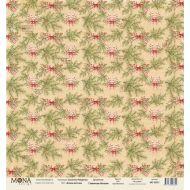 Бумага еловые веточки, коллекция сказочное Рождество