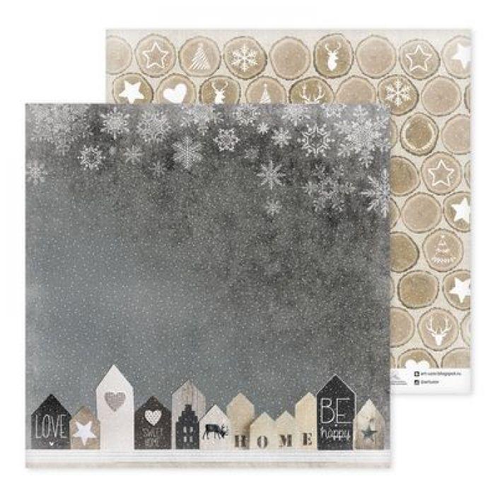 Бумага фигурное печенье, коллекция Зима. With love для скрапбукинга