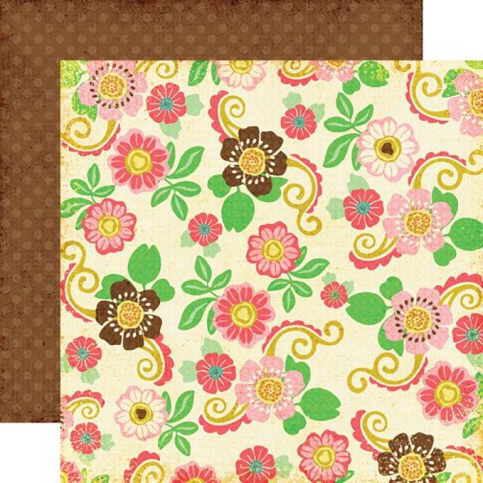 Бумага Floral Dress, коллекция Life is Good для скрапбукинга
