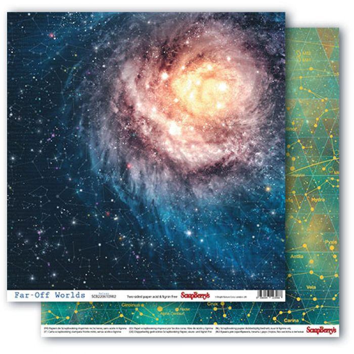 Бумага галактика, коллекция космос для скрапбукинга