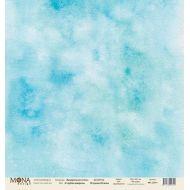Бумага голубая акварель, коллекция акварельная осень
