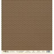 Бумага горох базовый коричневый, коллекция базовая горох