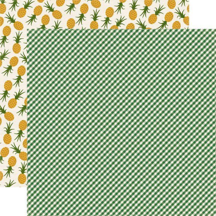 Бумага Green Gingham, коллекция Homegrown для скрапбукинга