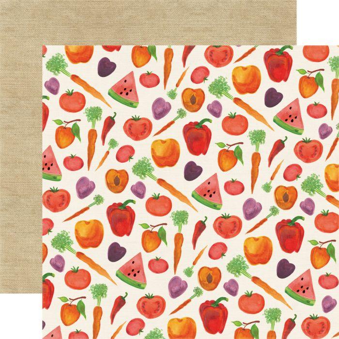 Бумага Harvest, коллекция Homegrown для скрапбукинга