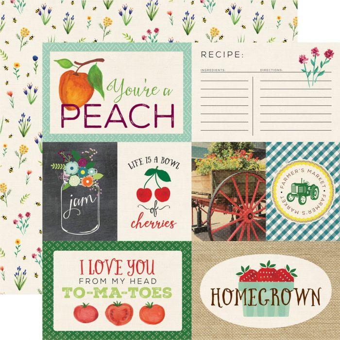 Бумага Journaling Cards, коллекция Homegrown для скрапбукинга